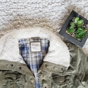 Old navy Jackets & Coats - Green flannel lined jacket